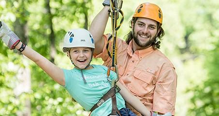 Zipline Tours For The Whole Family Adventure Park At Five Oaks
